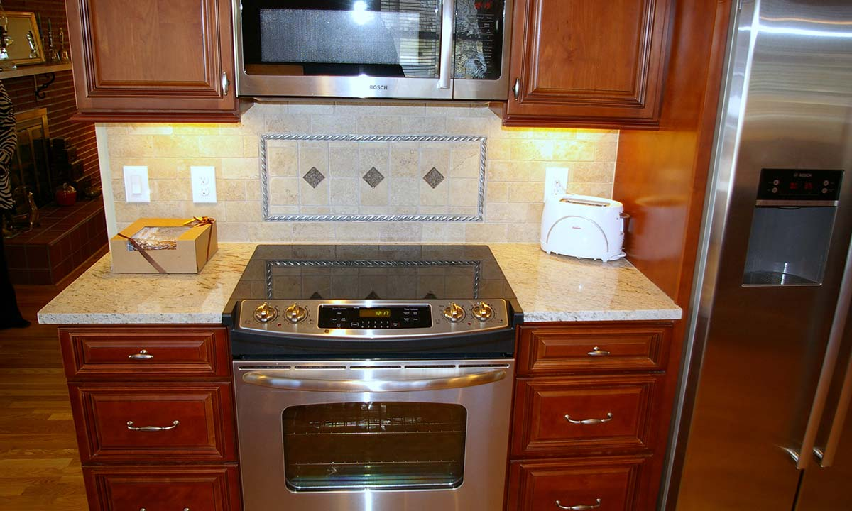 Photo of the new stovetop and countertop