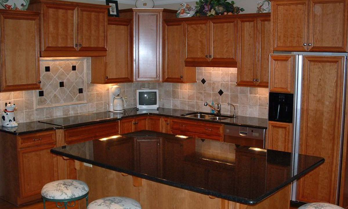 New cabinets, appliances and countertops with this kitchen redesign