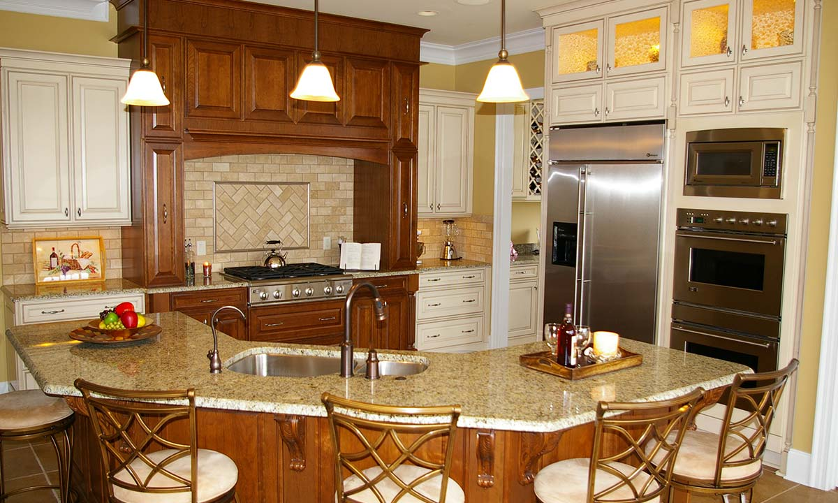 Completed kitchen remodel photo shows how redesign brought back life to this kitchen