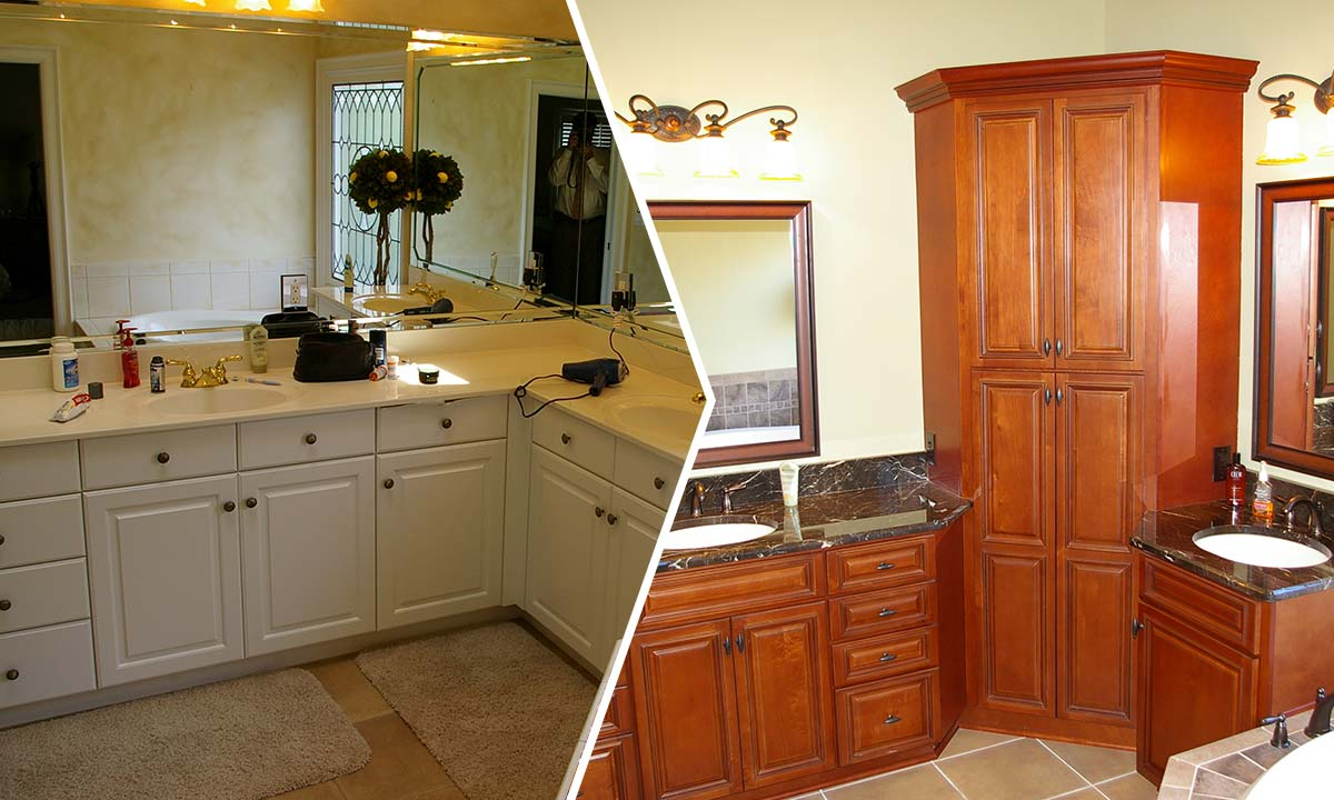 Bathroom remodeling with luxury before and after
