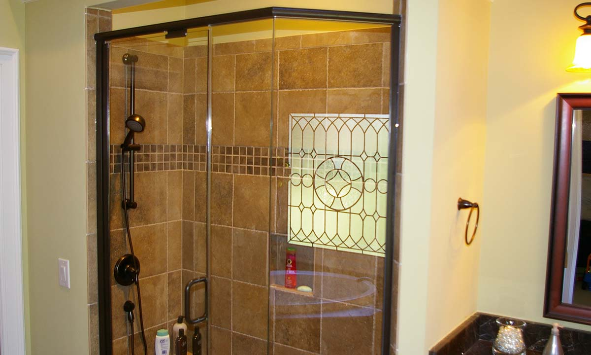 Bathroom remodeling with luxury – view of shower and adjustable shower head