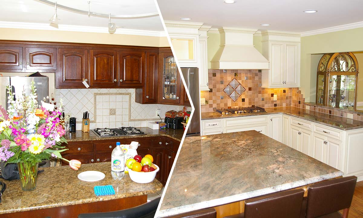 Before and after photos of this kitchen remodel