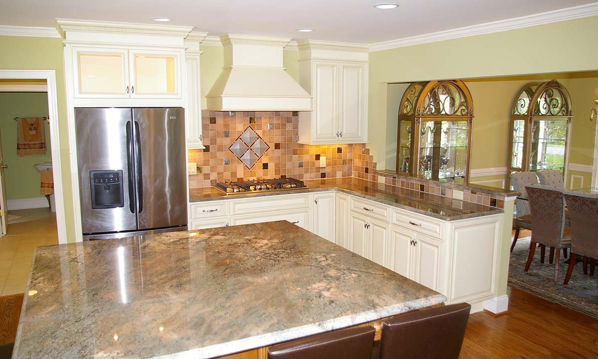 Finished photo of completely remodeled kitchen as part of a major house makeover