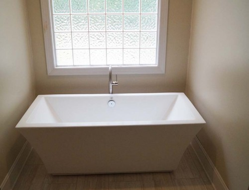 Freestanding tub: Master bathroom renovation