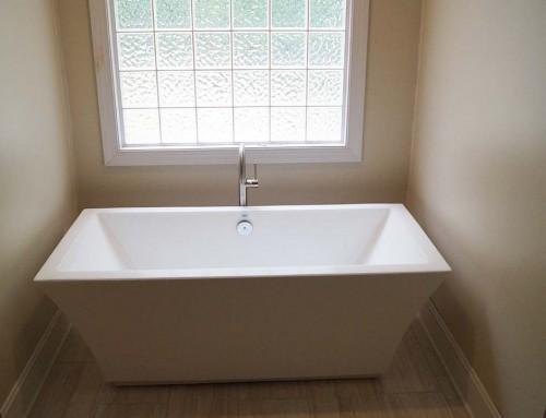 Freestanding tub: Master bathroom renovation