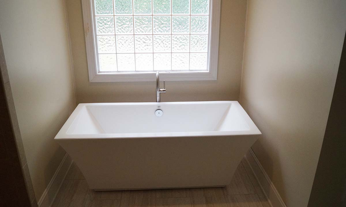 Master bathroom after picture with new freestanding tub