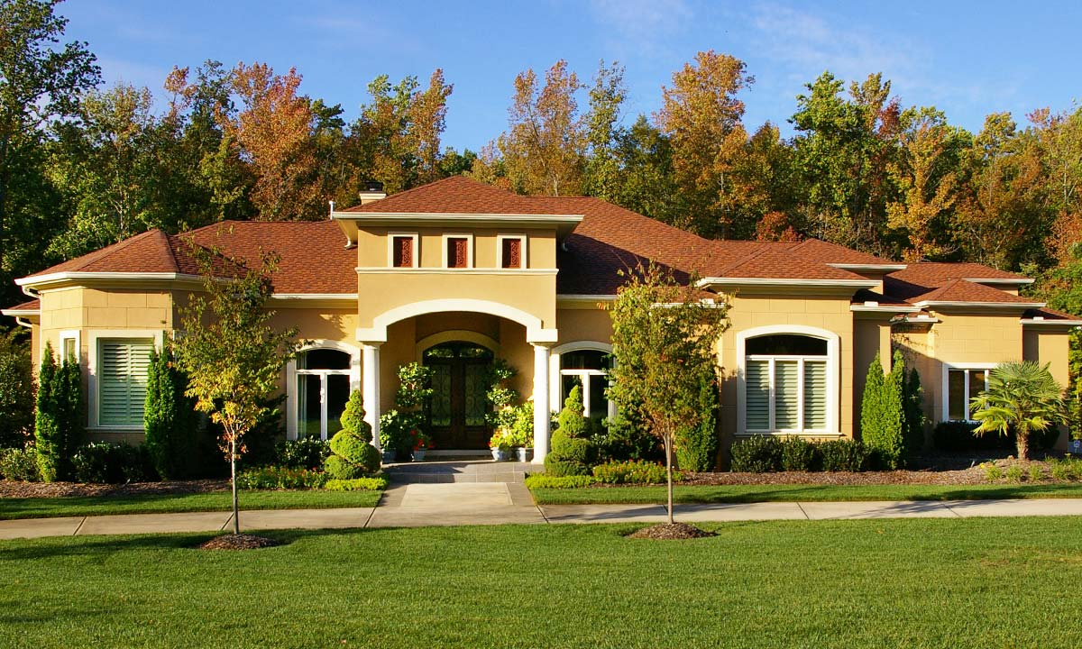 Custom home builder charlotte nc palmer custom builders for Contemporary mediterranean homes