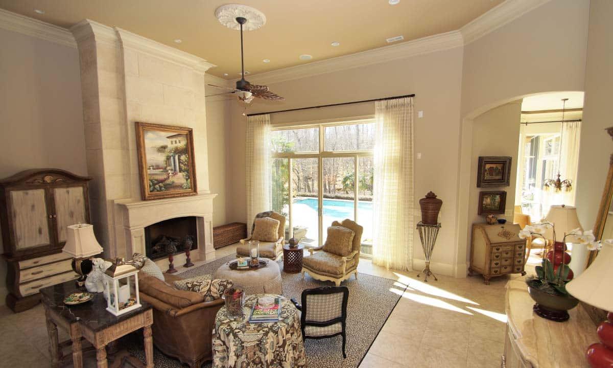 Custom designed living room photo