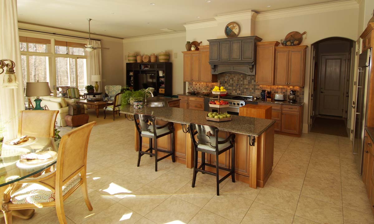 Picture showing kitchen of custom built home