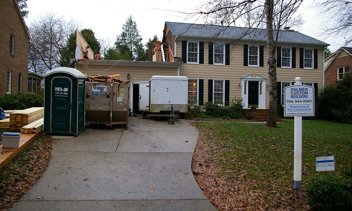 ... Picture Shows Area Above Garage Being Remodeled Into A New Bonus Room  And Family Area ...
