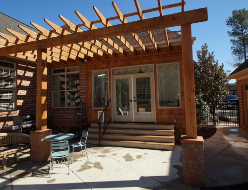 Pergola and outdoor fire pit