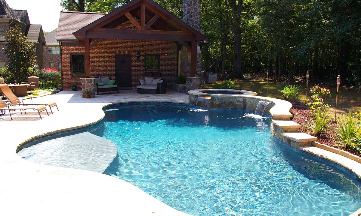 Pool house and outdoor fireplace home addition ideas for Pool house additions