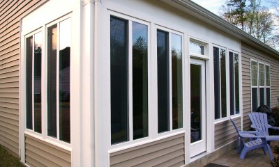 New sunroom photo after screened porch conversion