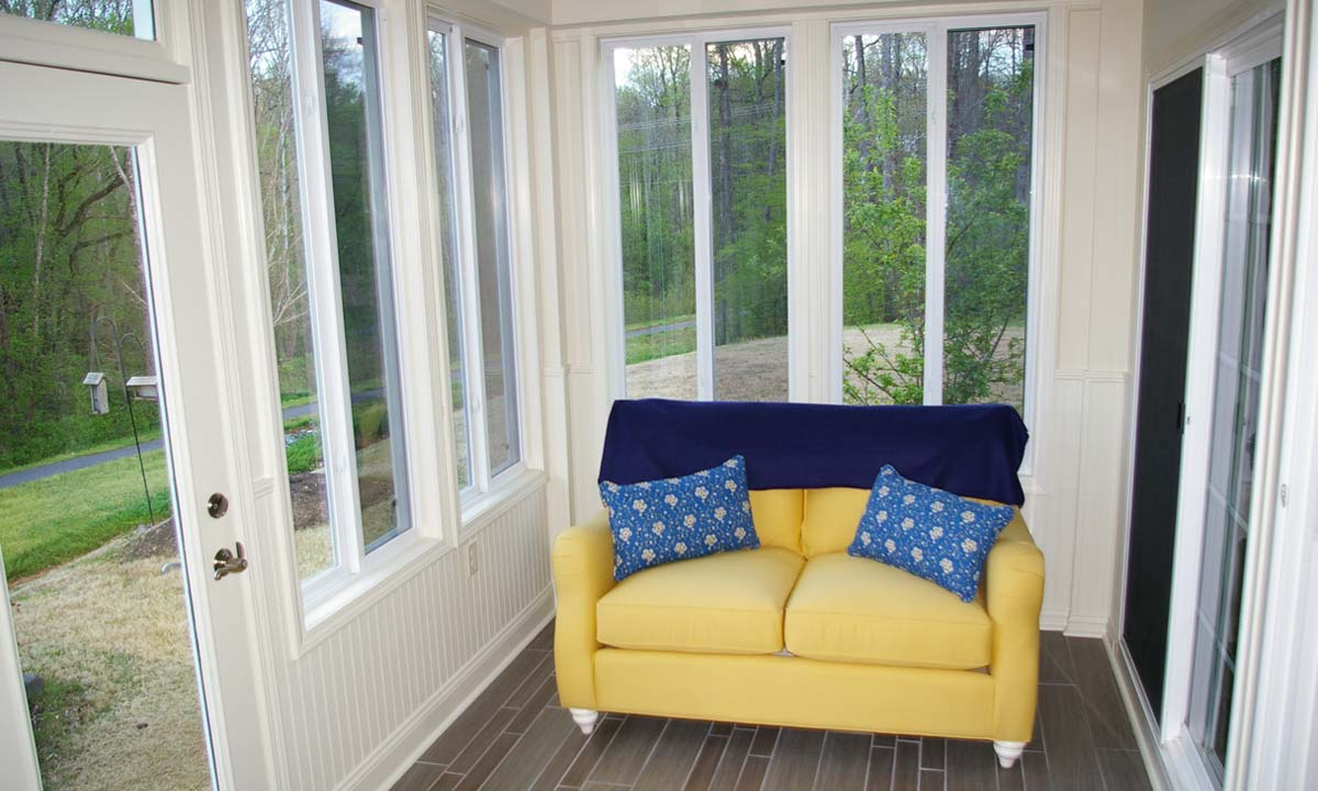 Interior View Of New Sunroom After Converting The Screened Porch