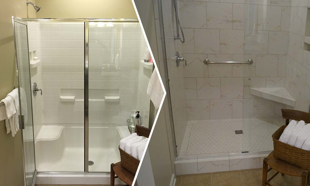 Master bath shower install a simple practical upgrade for Bathroom bath
