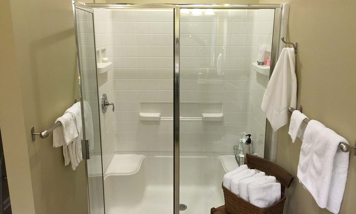 Old acrylic shower unsafe for aging homeowners