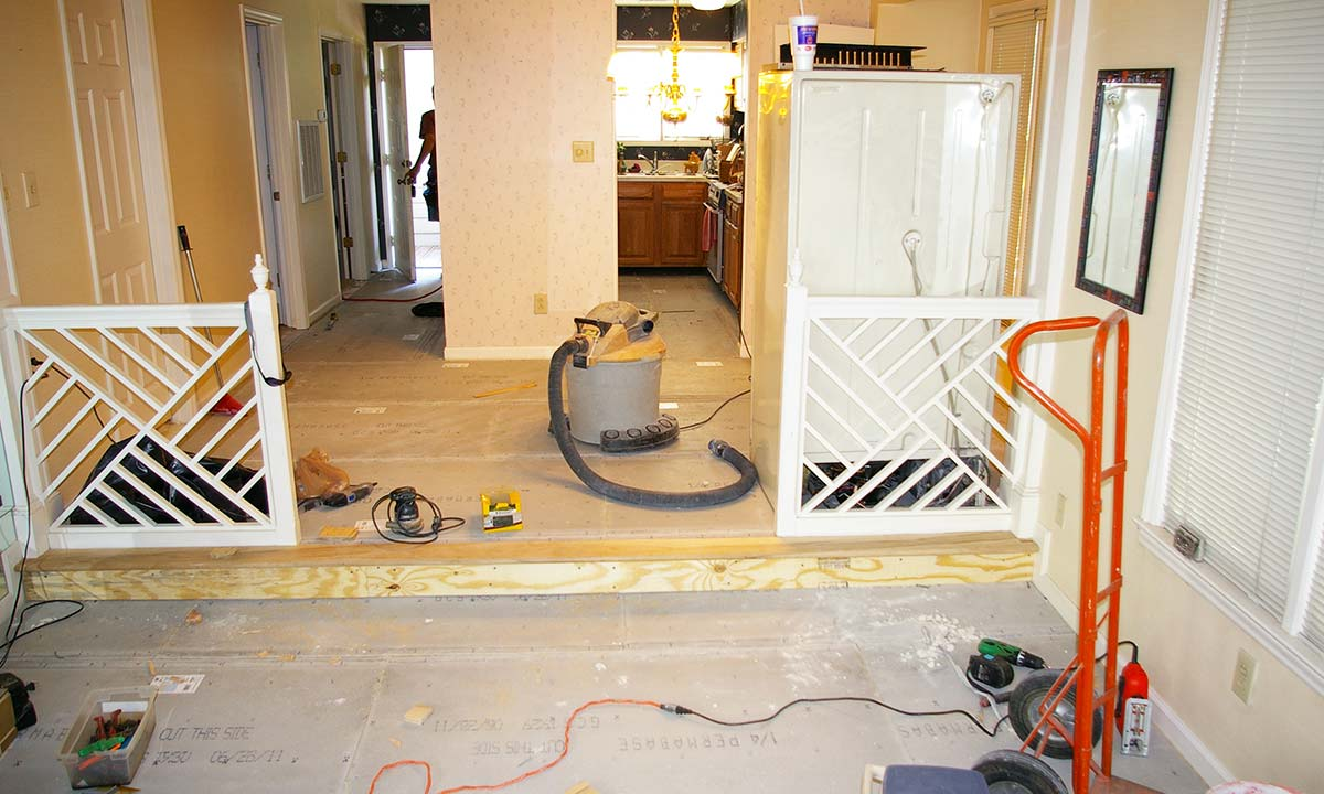 Remodeling in progress – opening up space