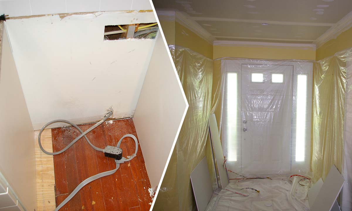 Before and during residential update and botched contractor fixes