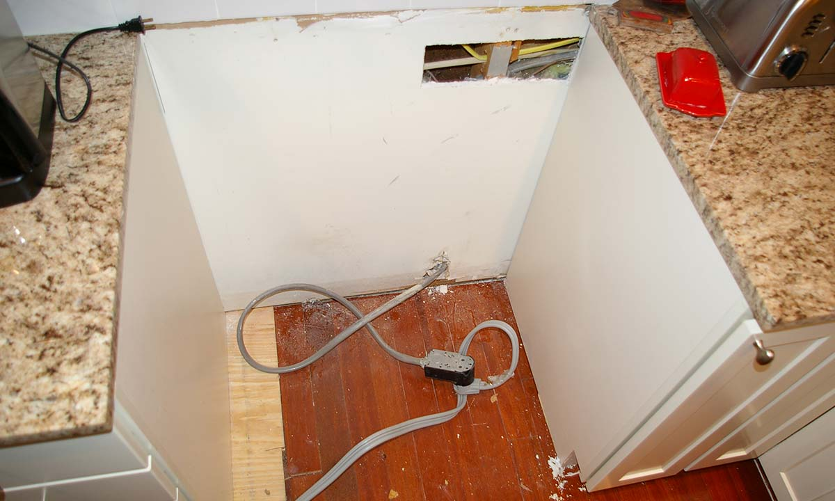 We discovered these code violations during the kitchen renovation
