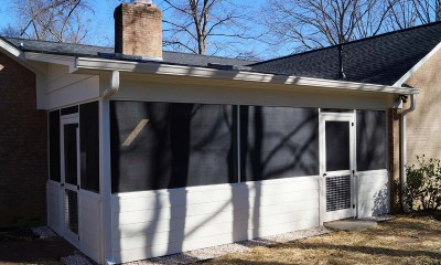 Completed screened porch addition