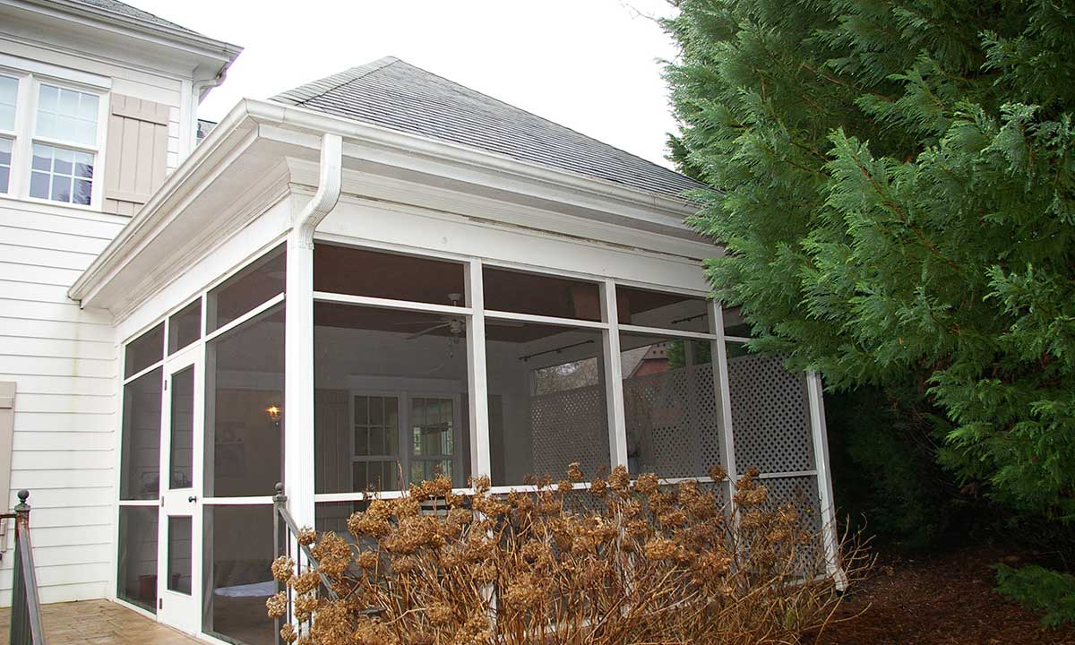 Before screened porch conversion