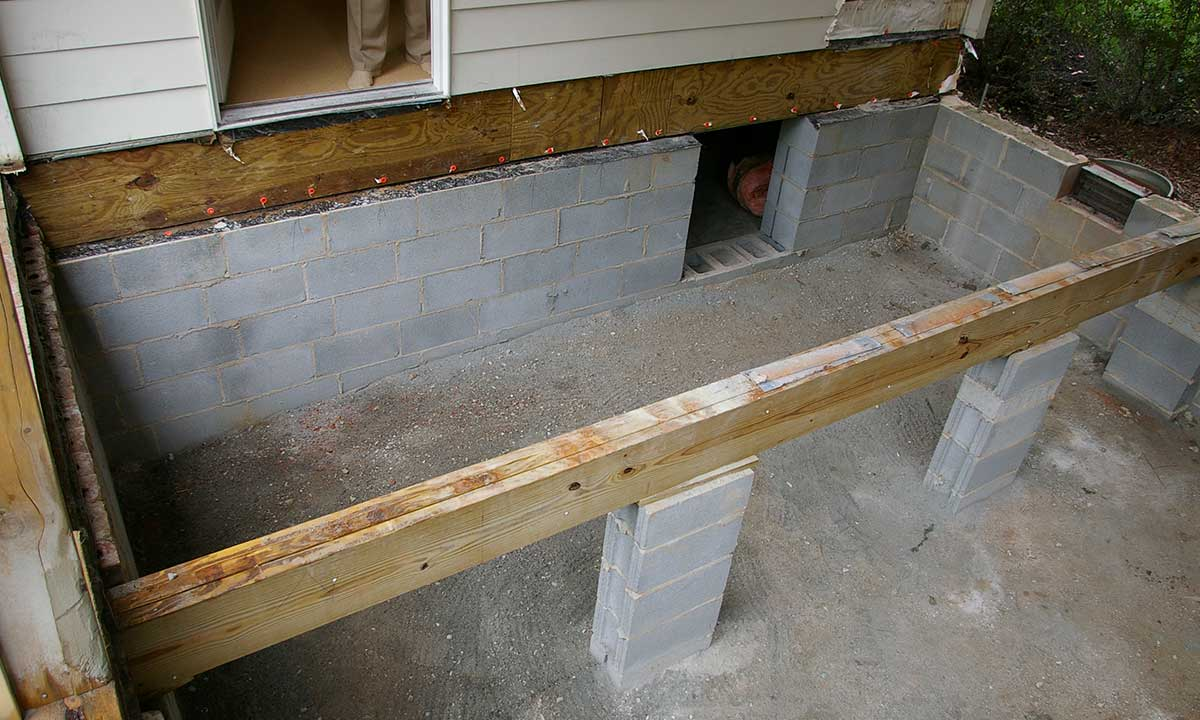 During construction – lowering the foundation level