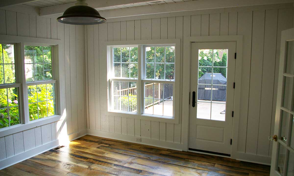 Interior photo of new sunroom