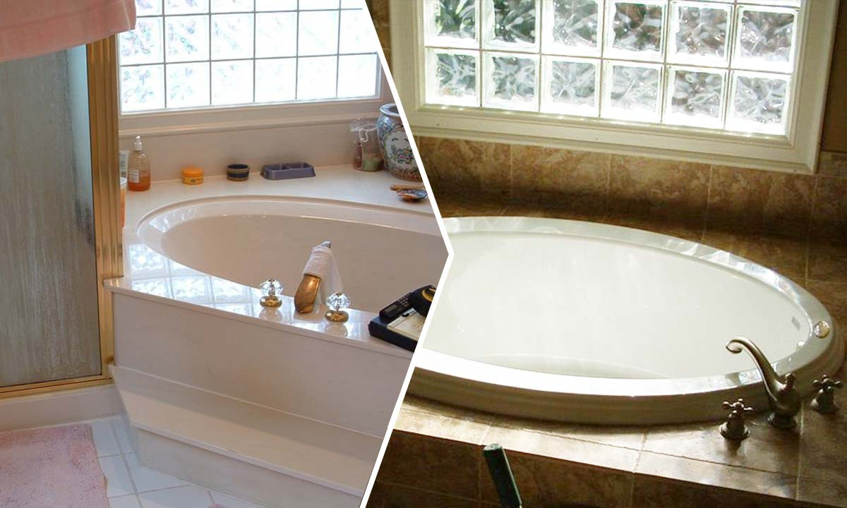 Bathroom repair and renovation before and after