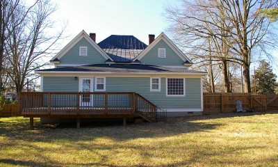 After home siding repairs
