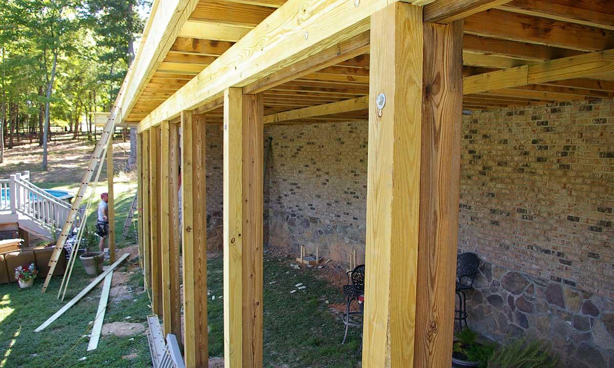 Structural repair of deck