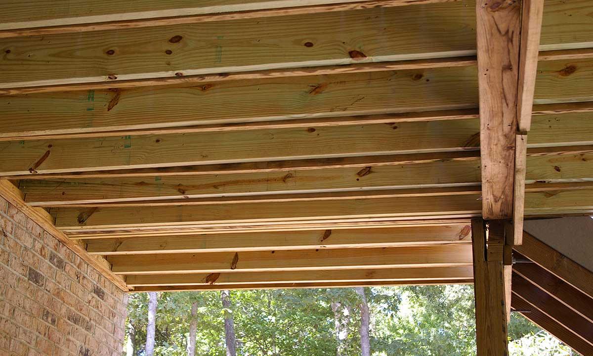 After repairing deck frame