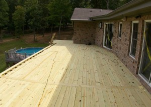 During construction of deck repair and structural repair