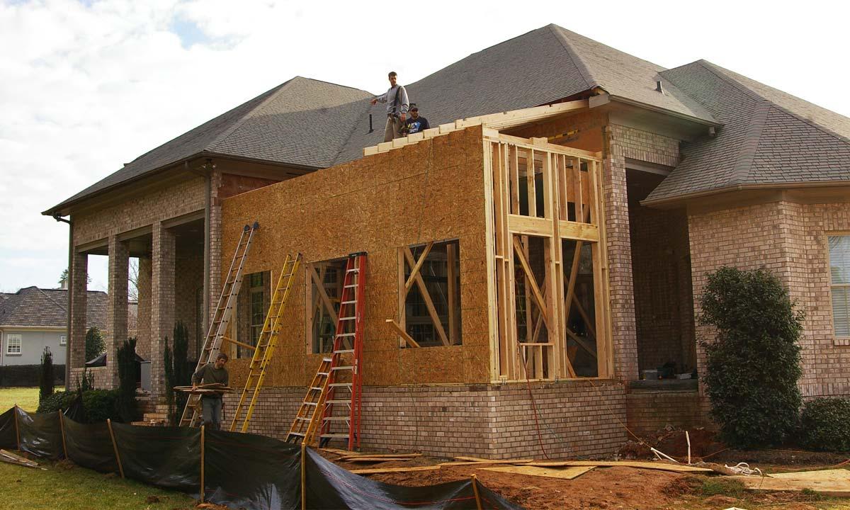 Sunroom porch addition construction