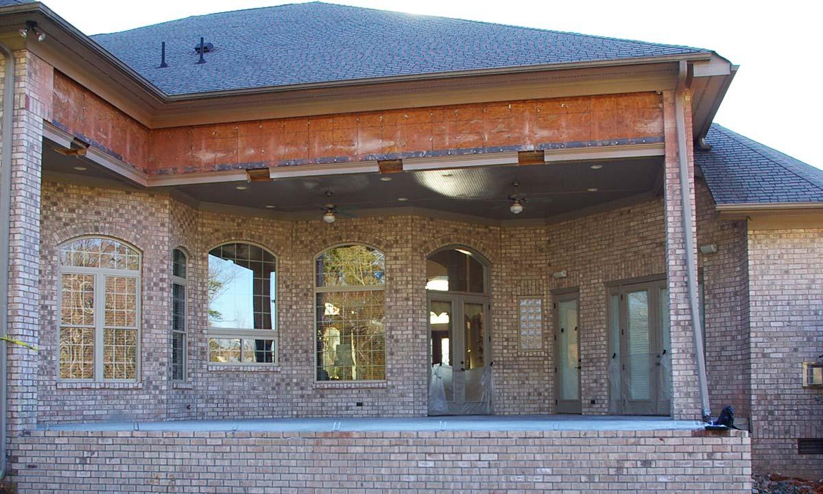 Sunroom porch addition beginning construction