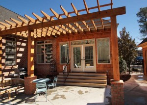 Sunroom addition, pergola and patio on Lake Wylie