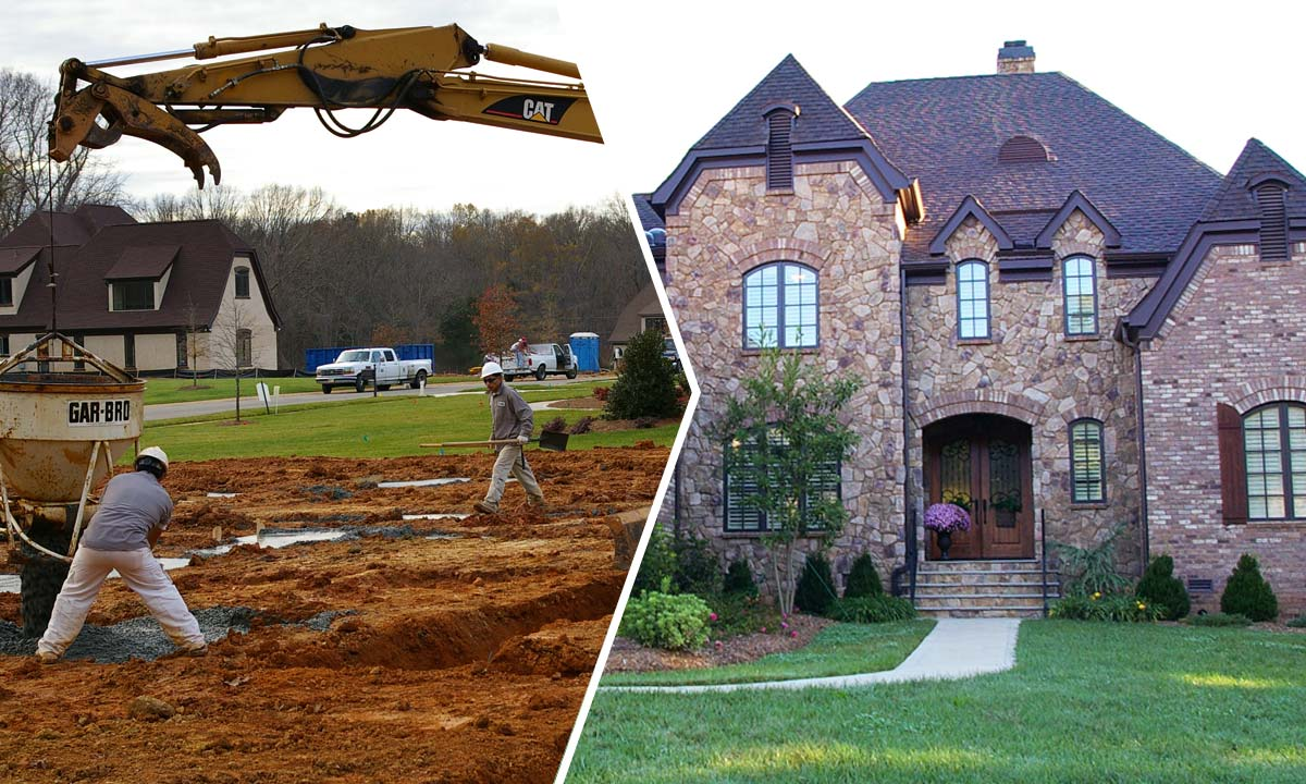 Custom built tuscan country manor before and after photos