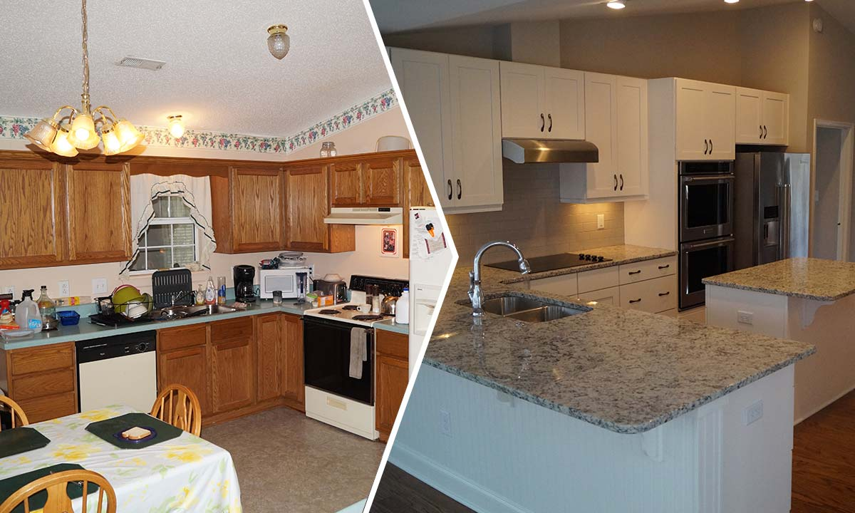 Interior kitchen remodel before and after pictures