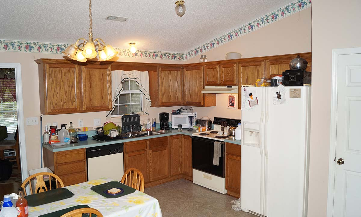 Before remodel – view of kitchen