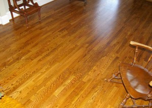 Feathered in new hardwood flooring after wood rot repair
