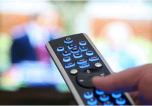 Remote Controller switching channel to reality tv