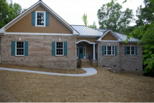Universally designed brick ranch custom home.