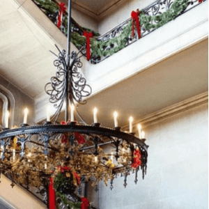 christmas decor at the biltmore house