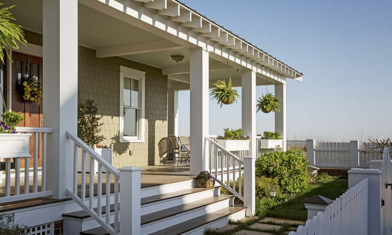 Updated front porch for beautiful curb appeal