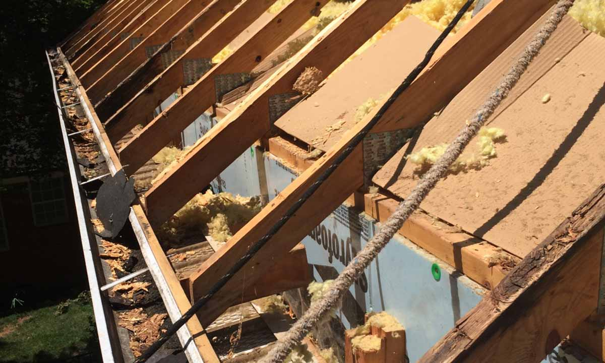 Roofing damage discovered from original build and repairs underway