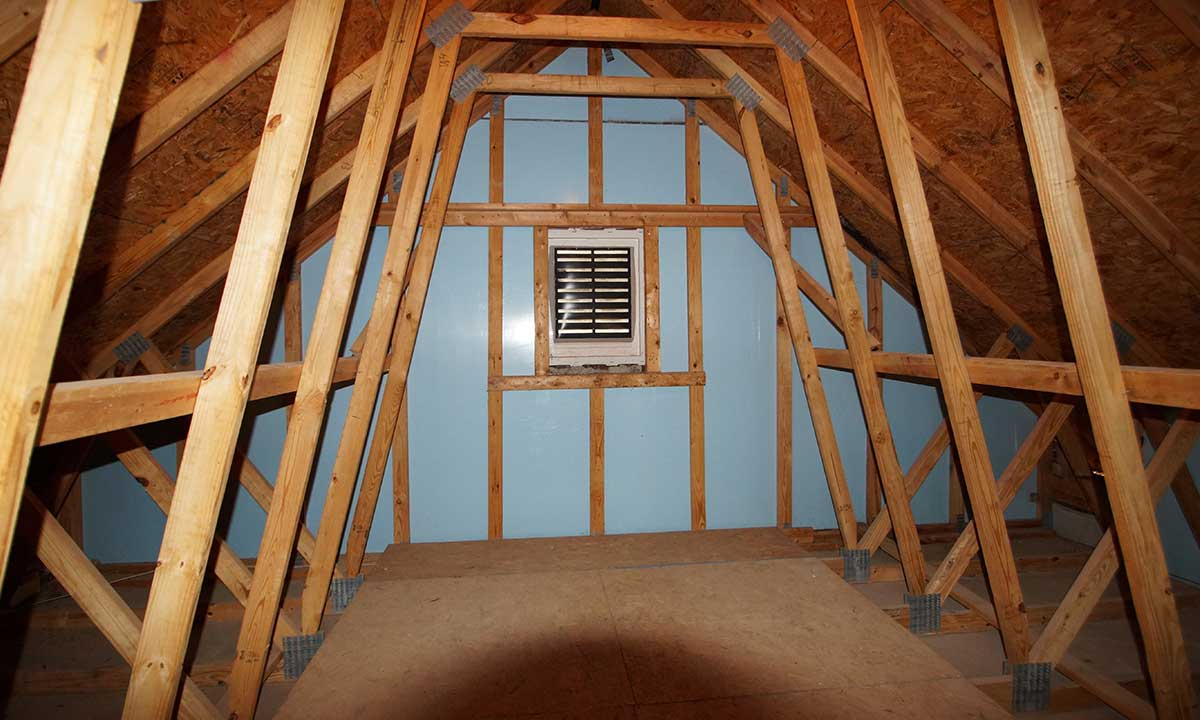 Before attic conversion: useable attic space