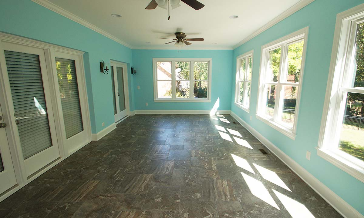 After construction - inside sunroom