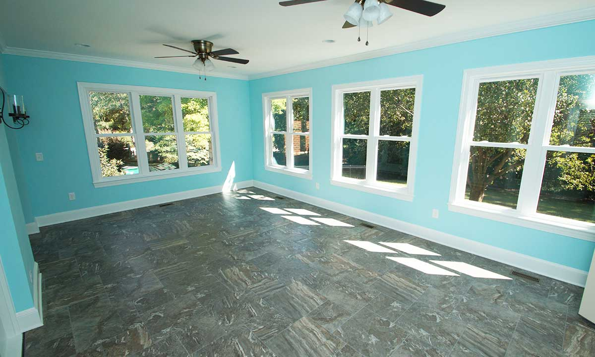 After construction - inside sunroom