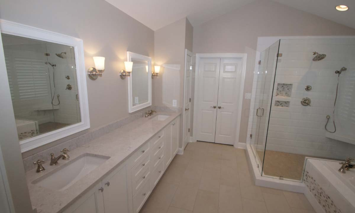 Master bathroom remodel updating for style and function for Master bath remodel 2017