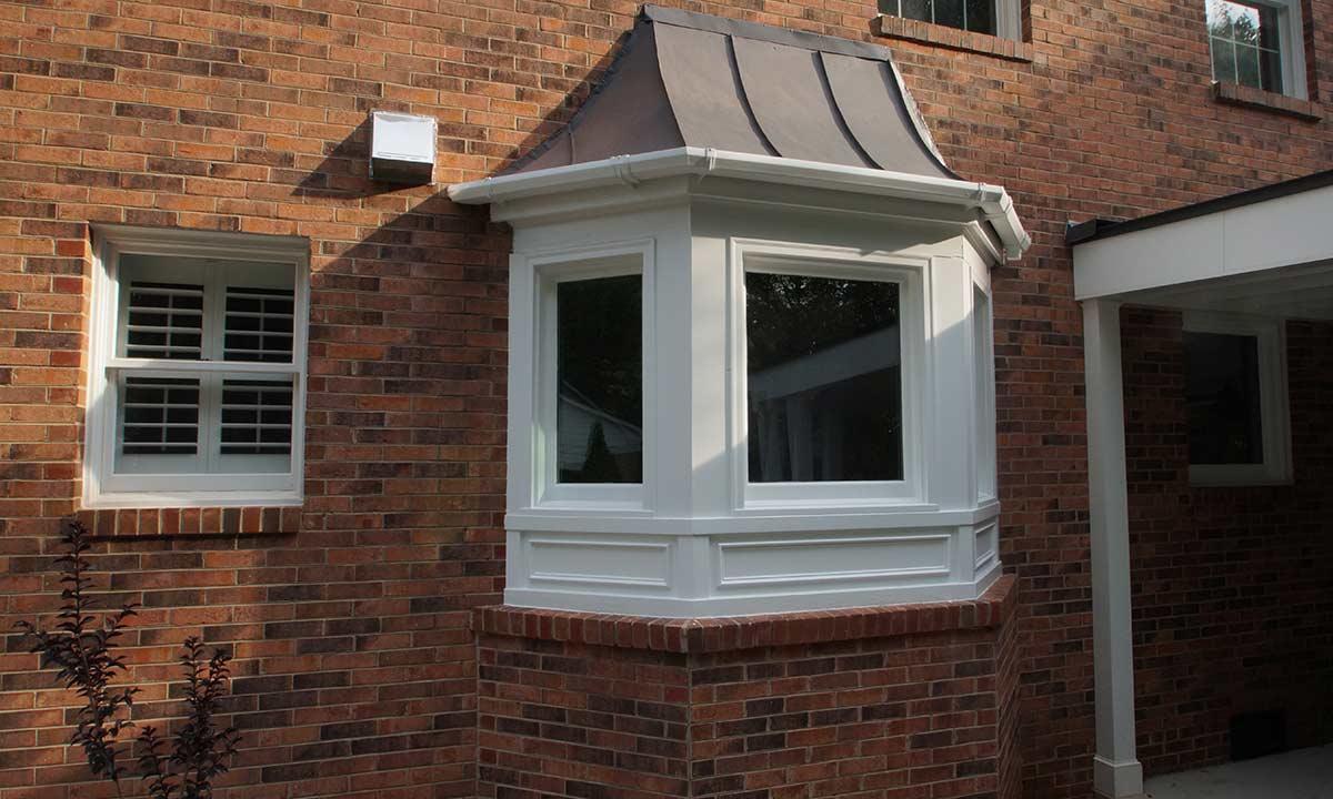 finished exterior photo of kitchen window