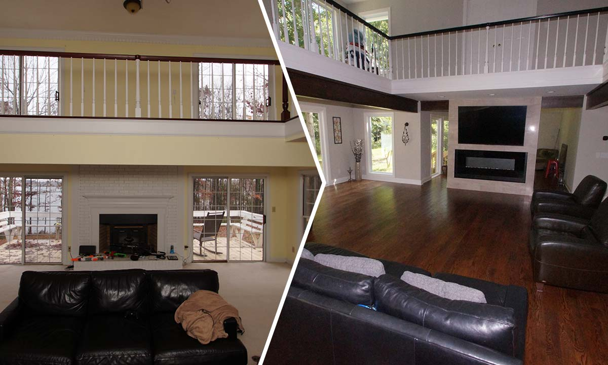 Convert Two Story Foyer To Loft : Two story foyer conversion how to add living space